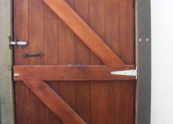 timber work door wanaka